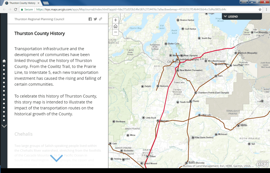 History of Thurston County Web Map