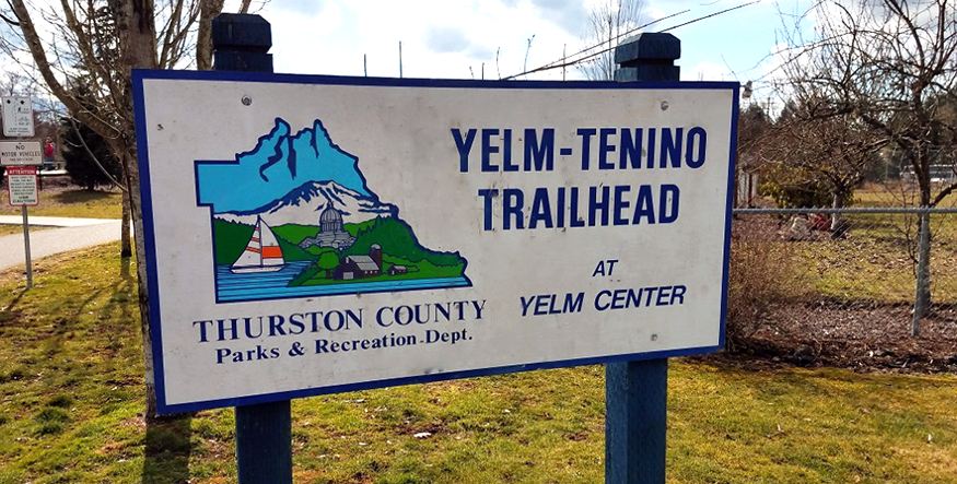 photo of Yelm-Tenino Trail Trailhead sign