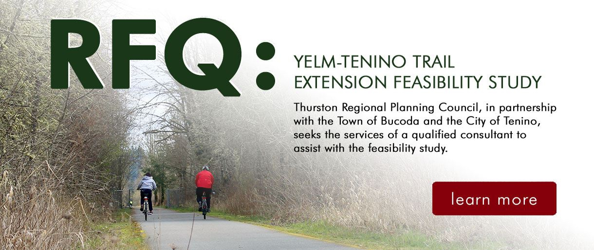 Banner Image - Request for Qualification: Yelm-Tenino Trail Extension Feasibility Study